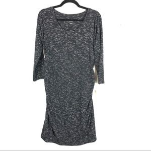 Liz heathered grey maternity dress R10